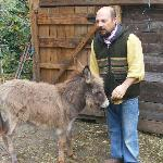 Gianni with baby donkey