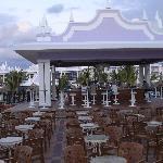 patio near lobby area and bar