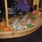Sushi Boat Served At Our Stay