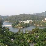 view of lake at front of hotel