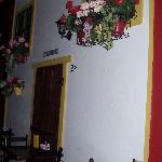 Wall representing typical Spanish villa