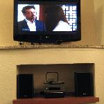 Large Flatscreen TV & mp3 stereo player
