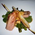 trancio salmone con asparagi