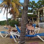Chenay Bay beach facing east and beach bar