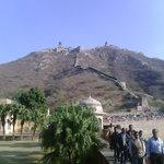 Nihalgarh fort at top