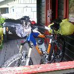 Nuestras super bicis en la terraza