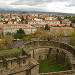 carcassone vista desde el castillo Carcassone