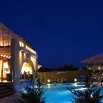 Hotel & pool bar night view