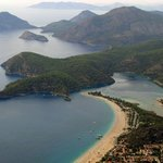 Olu Deniz beach view from Paragliding