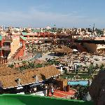 View from Dinosaur ride to aqua restaurant