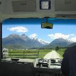 The bus taking us through Paradise