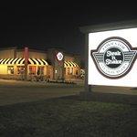 The iconic Steak 'N Shake sign as viewed heading west on FM 1960 just passed Eldridge
