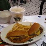 Jr. Steakburger with fries on Kids Menu at Steak 'N Shake in NW Houston