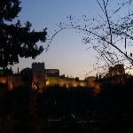 View of Alhambra at Dusk