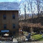 inn and backyard
