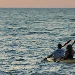 Kayaking off of San Juan pier