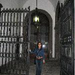 Inside gate...