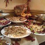 part of the Antipasta buffet