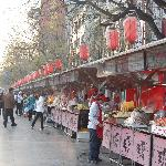 Food stall in front of Hua Fu International Hotel Beijing