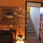 christmassy entrance hall