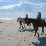 Horseback riding on the beach on Cape San Blas, FL