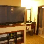 TV and bathroom