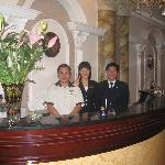 the friendly front desk staff