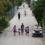 Caye Caulker street - no cars, just bikes and go carts