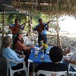 A little Mariachi entertainment on Scorpion Island