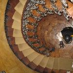 The stunning staircase (viewed looking down)