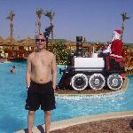 Santa at the pool