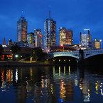 Melbourne CBD at dusk