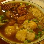 Beef Stew and Wonton Noodle soup
