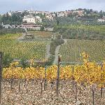 views back on Radda in Chianti from the walk up to Noci