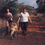Me on the lion walk - a highlyight of my trip !