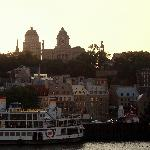 View of Quebec City Waterfront from the Ferry at Dusk