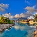 Lagoon at the resort