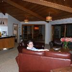 Inside the lounge room in the main house