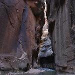Standing in the narrows with special rented shoes and dry pants (suggested for November)