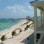 veiw of beach from balcony
