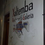 Xaltemba's hand-painted sign