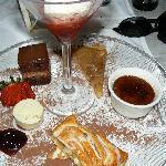 Chef's Dessert Sampler plate