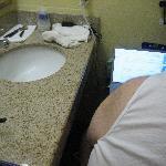 cozy bathroom space