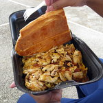 chicken scrambled egg sandwich