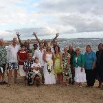 Our Wedding Group with the fantastic Outrigger Staff