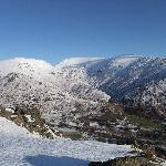 View of Great Rigg from the top of the Lion and the Lamb ( Helm Crag )