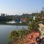 Baga Bridge and river outside Riverside Regency