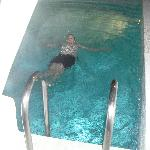 In our private pool!