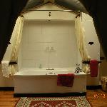 salle de bain dans la tente