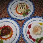 desserts from Los Gallos